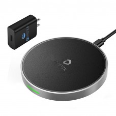 DESTEK iPhone X Fast Wireless Charger – the Fastest Wireless Charging for iPhone & Samsung (7.5W for iPhone X 8 8plus, 10W for S9+ S8 Note8),5W Normal Speed for Others Qi-Enabled Smartphones