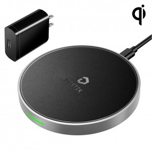 DESTEK Fast Wireless Charger for iPhone X Xs XR Xs Max 8 8Plus w/ QC3.0 18W Adapter