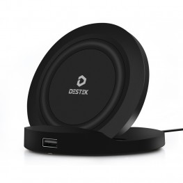 DESTEK 10W Fast Qi Wireless Charger, Foldable Wireless Charger Stand for iPhone 8/8 Plus/X/XS/XR/XS Max